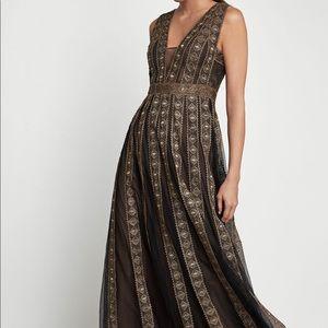 BCBG Tulle Pleat Dress